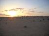 raid 2cv en Tunisie, coucher de soleil à el borma