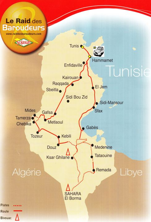 Carte Tunisie Hammamet.Raid 2cv En Tunisie Tunis Hammamet