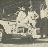 marc avec sa méhari, avant le départ Paris-Persépolis-Paris